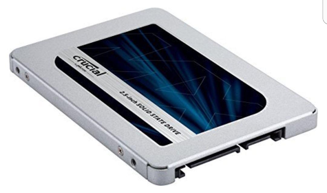 Crucial MX500 250 GB Interne SSD (3D NAND TLC, SATA, 2,5 Zoll, 5 Jahre Garantie)