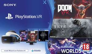 Sony PlayStation VR V2 + Camera + VR Worlds + Doom VFR + The Elder Scrolls V: Skyrim VR für  221,94€ (Amazon IT)