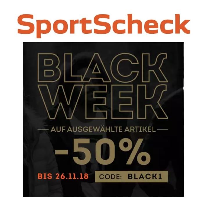 Black Week bei Sportscheck: 50% Rabatt auf ausgewählte Artikel!