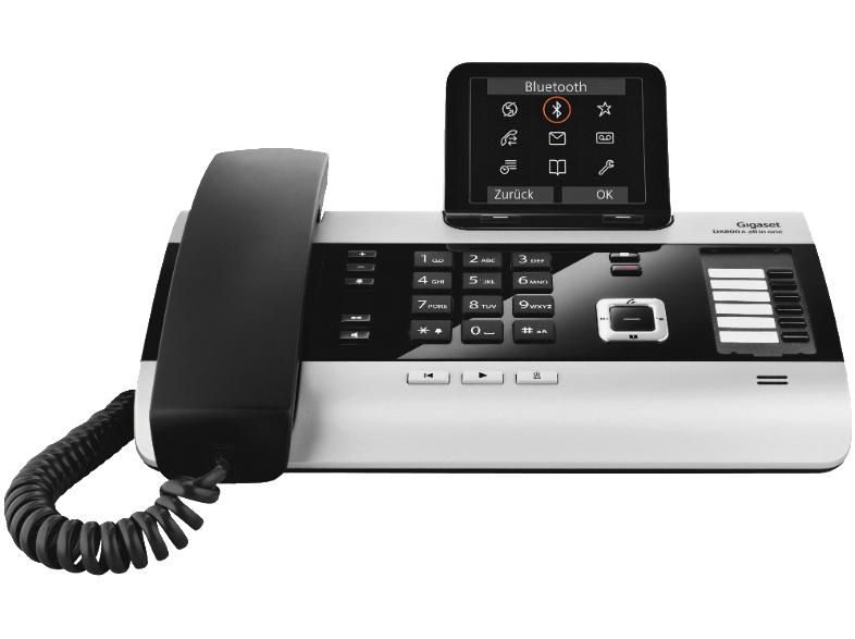 Gigaset DX800A VOIP-Telefon zum Bestpreis (Anrufbeantworter, schnurgebunden, Multilink 6 Mobilteile, 3,5'' TFT-Farbdisplay)