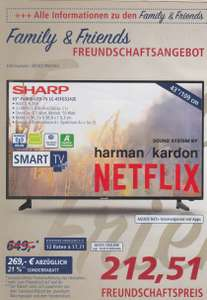 Sharp LC-43FG5242E Full-HD LED-Fernseher (Real Family & Friends Aktion)