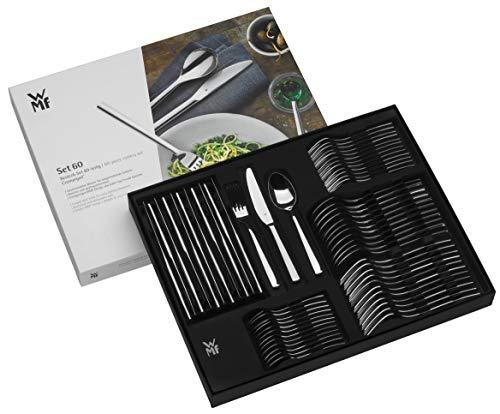 [AMAZON] WMF Miami Besteckset, 60-teilig, für 12 Personen, Monobloc-Messer, Cromargan Edelstahl Poliert, spülmaschinengeeignet