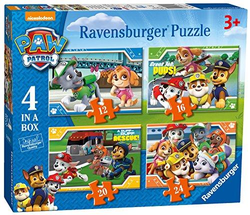 Ravensburger Paw Patrol Puzzle, 4 in Einer Box (Amazon prime)