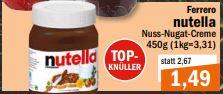 [Lokal Oldenburg] Nutella 450g nur bis 20.11.2018 bei aktiv/irma
