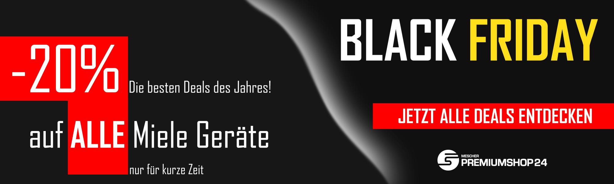 Ab jetzt 20% Rabatt auf Miele Geräte @[Black Friday][außer Zubehör] + 10% auf ALLES andere