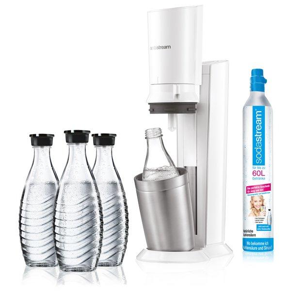 SodaStream Crystal 2.0 weiß inkl. 3 Glaskaraffen nach 20€ Guthaben(-Gutschein)
