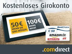 Bis zu 200€ beim kostenlosen Giro der comdirect kassieren
