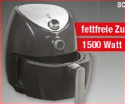 Heißluftfritteuse zur fettfreien Zubereitung 3,2 Liter 1500Watt für 35 Euro [Zimmermann]