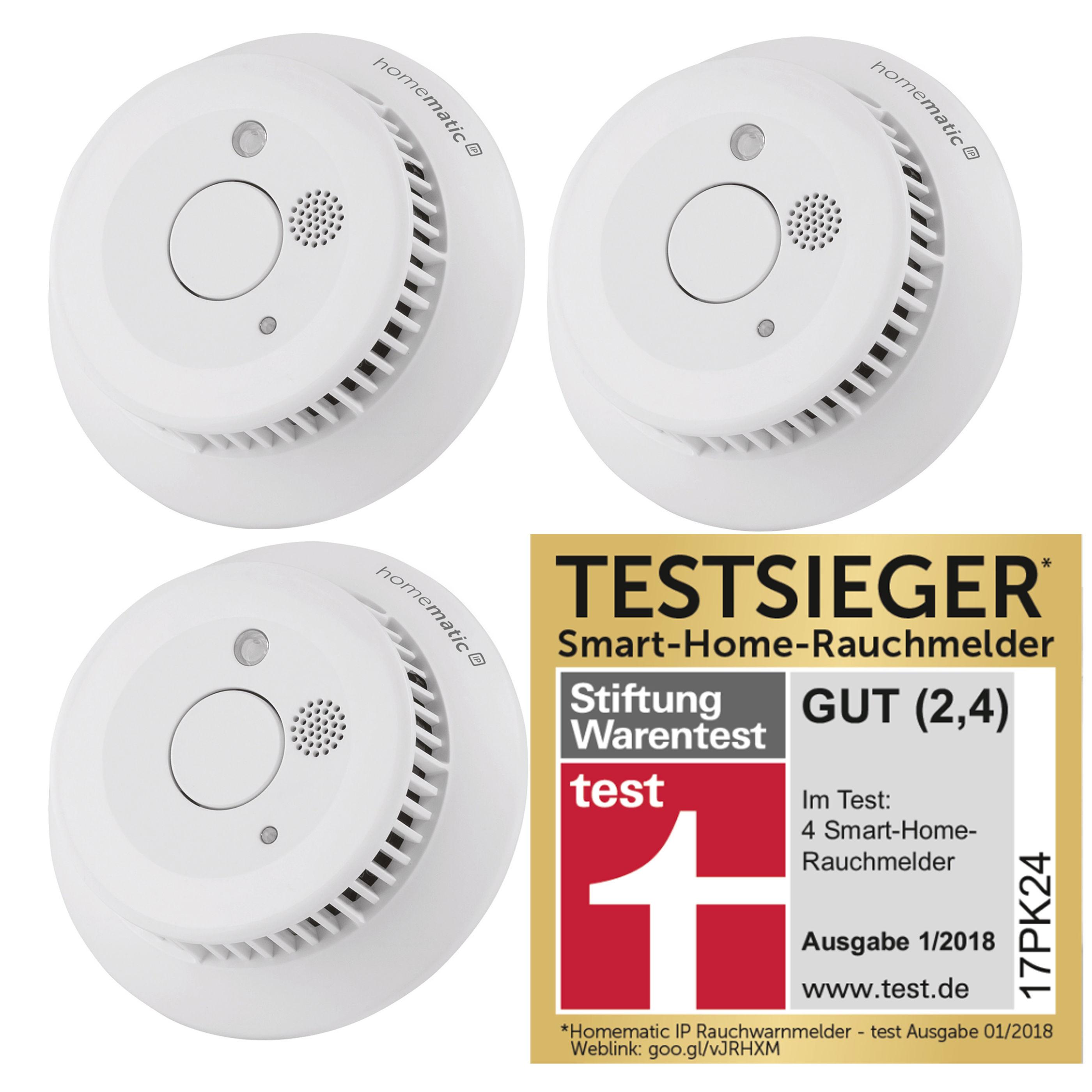 Homematic IP Rauchwarnmelder 3er Set - 99,99 mit Masterpass / 129,99 ohne Masterpass