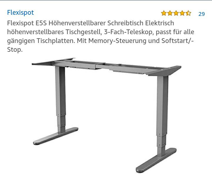 Flexispot E5S Höhenverstellbarer Schreibtisch Elektrisch höhenverstellbares Tischgestell