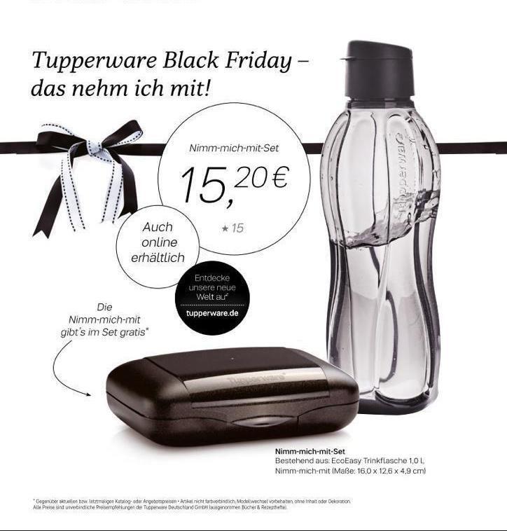 Tupperware Nimm-mich-mit Set (2) Black Friday