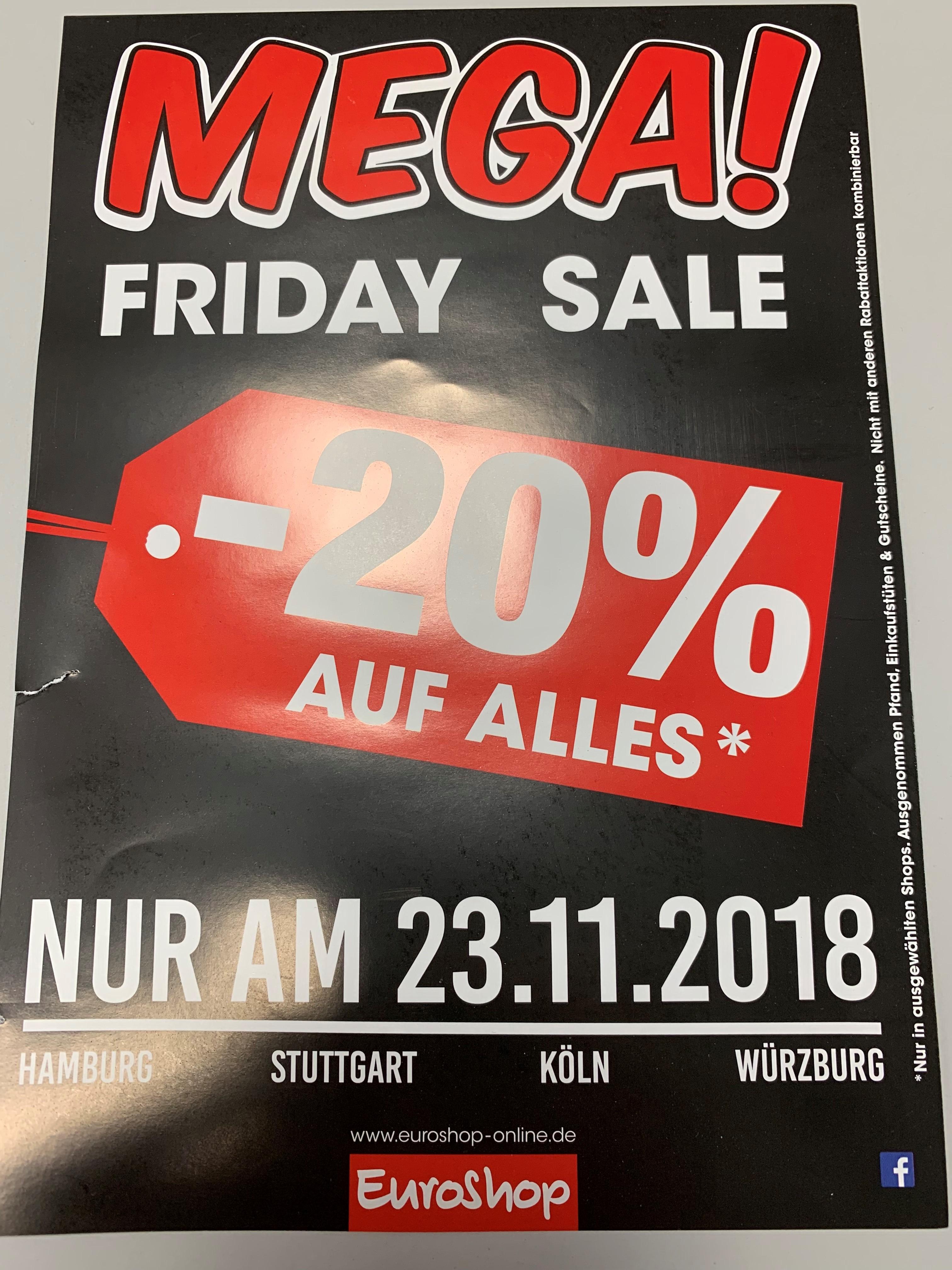 23.11.2018 EuroShop lokal - 20% auf Alles*