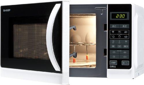 Sharp R-642WW Mikrowelle / 20 L / / Weiß / 800 W / Digitale Steuerung / Zeitschaltautomatik / Kindersicherung  [AMAZON PRIME]