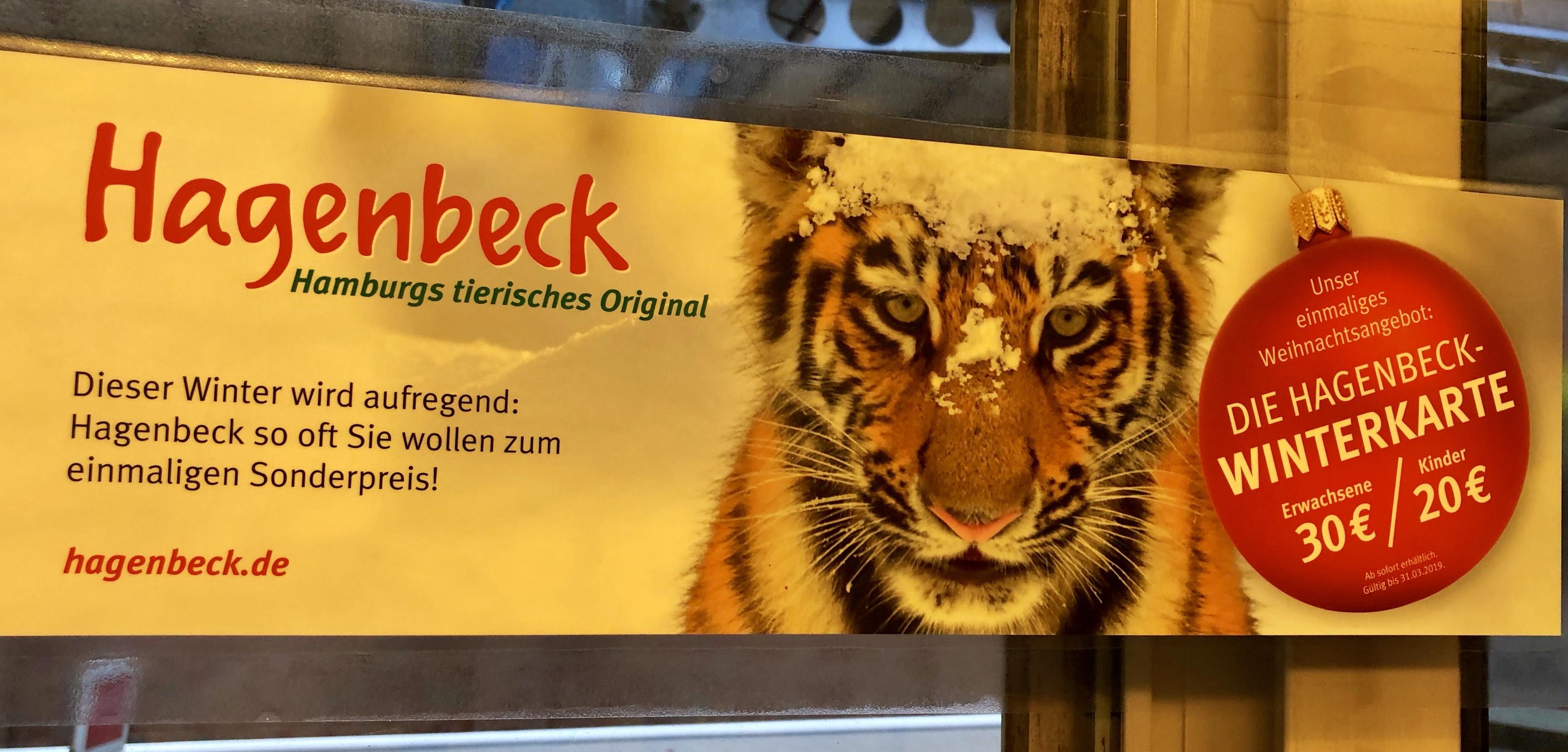 [Hamburg] Tierpark Hagenbeck Flatrate Dauerkarte Winter