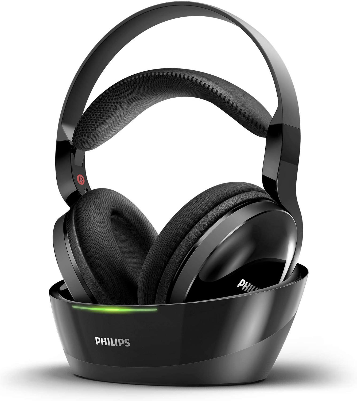 Philips SHC8800 drahtloser On-Ear-Kopfhörer (40mm Neodym-Treiber, 20 Std. Akkulaufzeit, 10Hz-20 bzw. 40 kHz, 100m Reichweite)