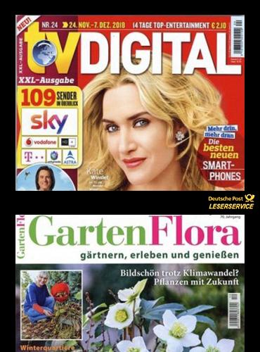 TV Digital XXL Abo (14 Monate) für 57 € mit 55 € Amazon-Gutschein // GartenFlora Abo (13 Monate) für 41,20 € mit 40 € Amazon-Gutschein