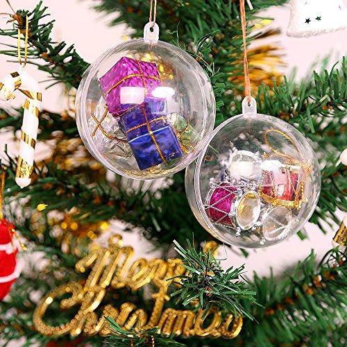 Transparente, befüllbare Acrylkugeln (für Weihnachtskugeln o.ä.)