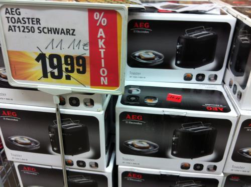 [lokal Bremen Berliner Freiheit] AEG Toaster, Severin Eierkocher & Braun Föhn für je 11,11 €