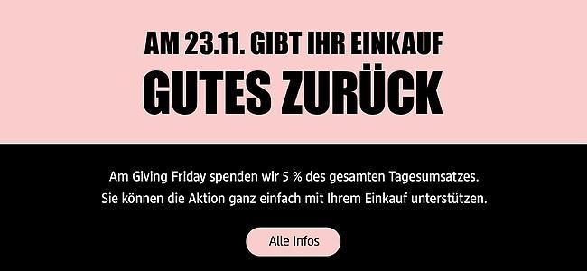 dm Giving Friday - Am 23.11. gibt euer Einkauf 5% für die Bildung von Kindern und Jugendlichen