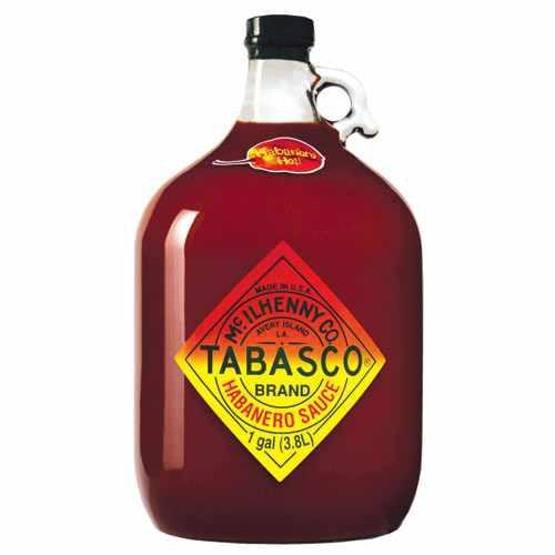 Tabasco - Habanero, Garlic oder Jalapeno - ganze Gallone 3,78 Liter