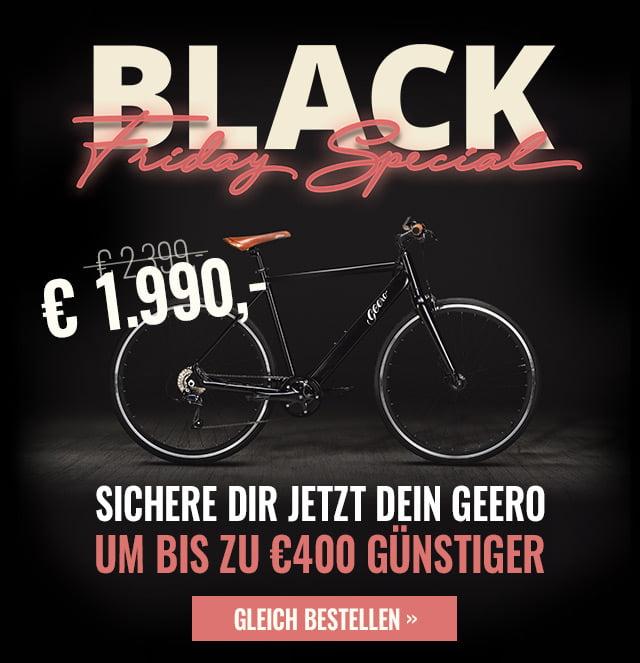 Black Friday: E-Bike/Pedelec Geero Classic Modelle für 1.990,- mit Versand