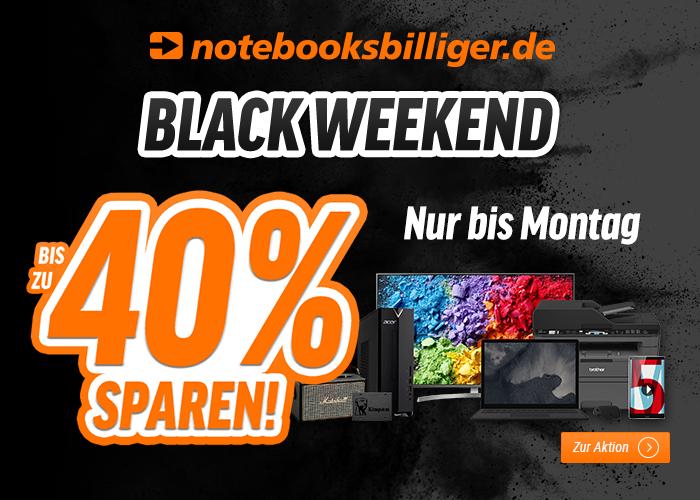 Black Weekend bei NBB: Notebooks, Tablets, Monitore, Drucker, Fernseher, Beamer, HiFi-Artikel, PC-Zubehör, Software und vieles mehr