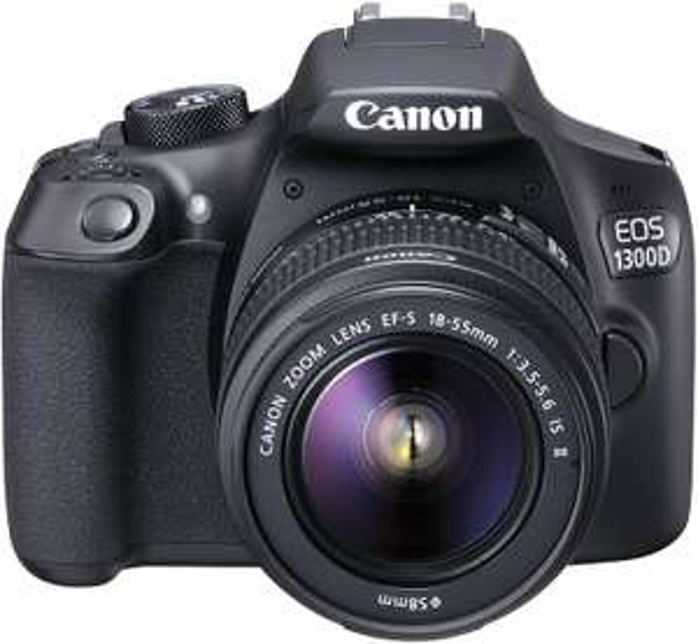 Canon EOS 1300D + 18-55mm III Objektiv (18-55mm IS II Objektiv für 369€)