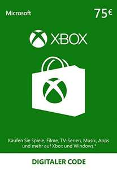 XBOX Live 75 EURO Gift Card für 66 Euro - 5% (62,66€)
