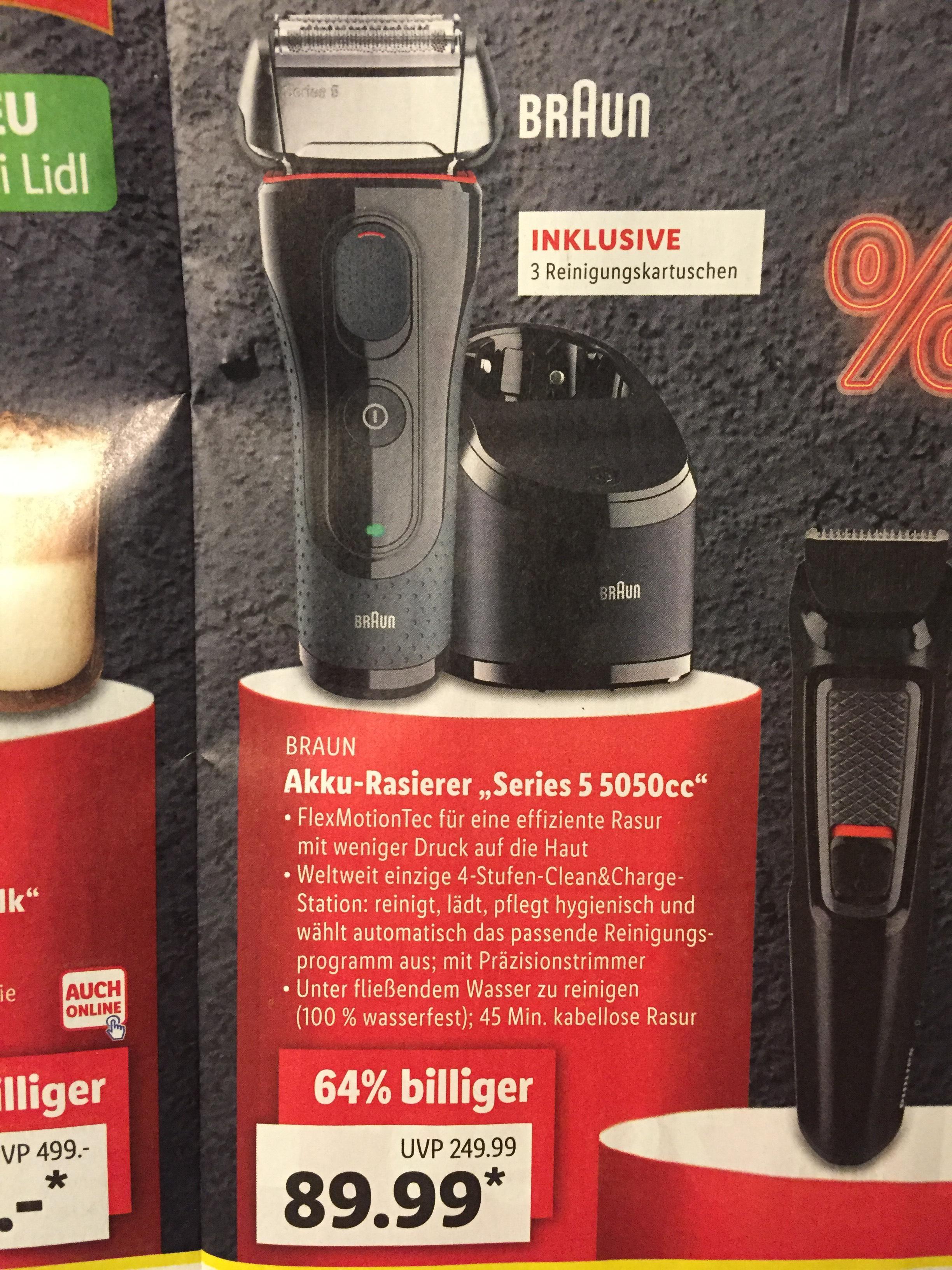 Braun Series 5 5050cc + CCR2 und 3 Reinigungskartuschen