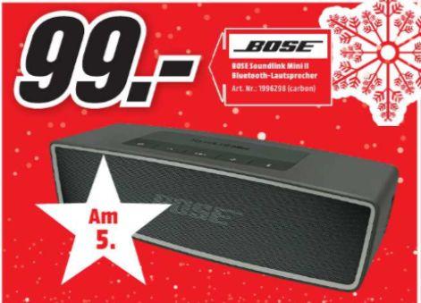 [Regional Mediamarkt Itzehoe am 05.12] BOSE SoundLink Mini Bluetooth speaker II, Bluetooth Lautsprecher, Carbon für 99,-€