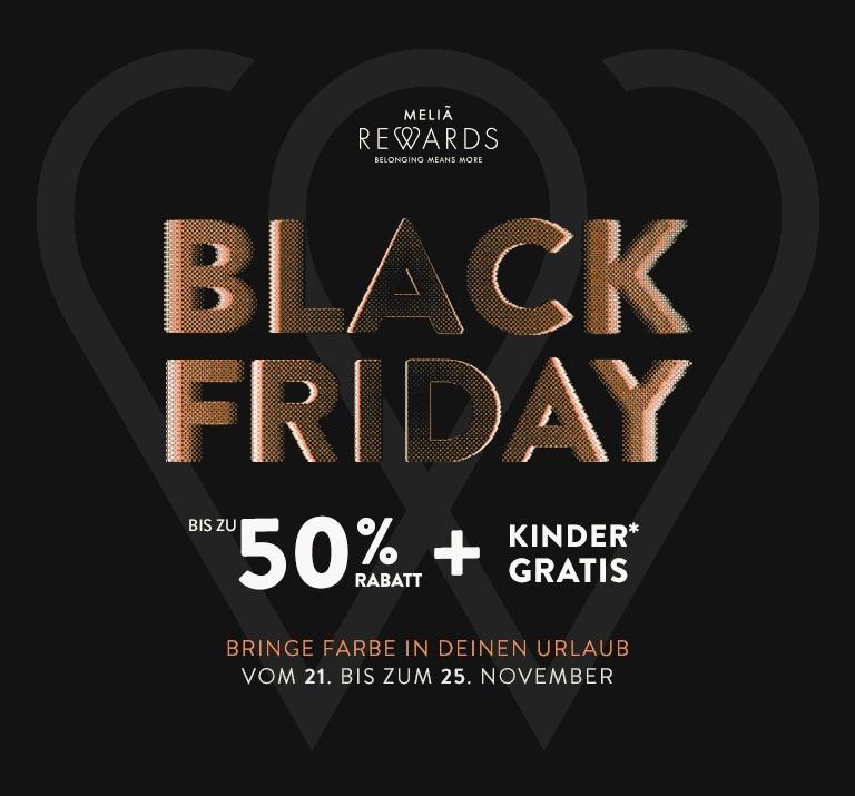 Hotels - Bis zu 50% Rabatt und Kinder gratis bei Buchungen auf der Melia.com Website - Black Friday