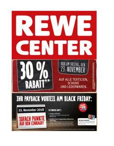 (offline) Black Friday im Rewe Center: 30% Rabatt auf Textilien + 10-fach Paybackpunkte!