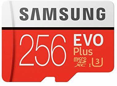 Samsung EVO Plus MicroSDXC - 256GB, U3, (100MB/s - 90MB/s) für 53.16€ (Amazon.es)