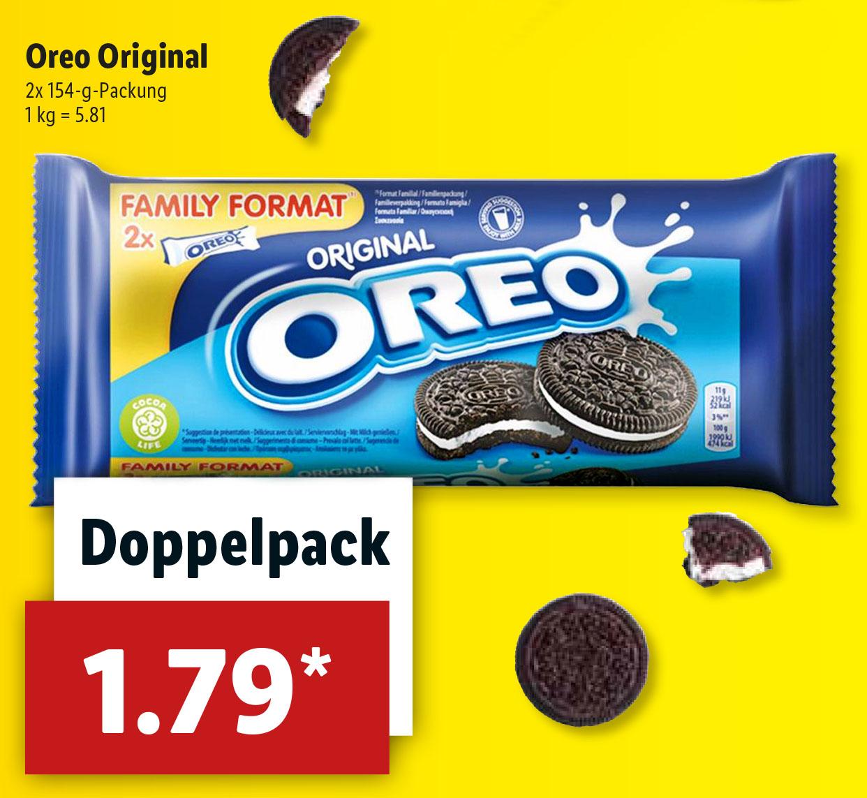 DOPPELPACK Oreo Doppelkekse nur 1,79€ (Lidl ab 30,11)