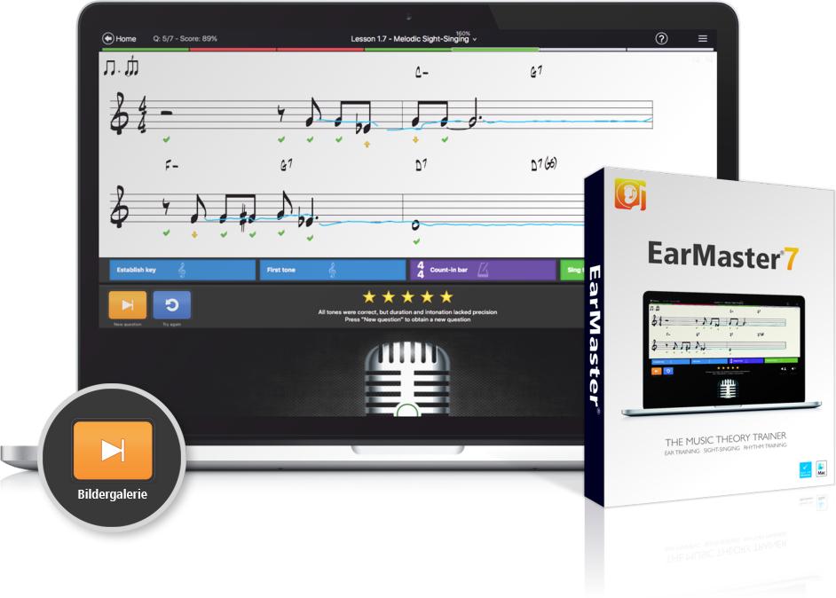 EarMaster 7 - Die beste Software für musikalische Gehörbildung kostenlos dauerhaft testen
