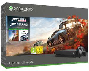 Microsoft Xbox One X 1TB + Forza Horizon 4 + Forza Motorsport 7 Bundle [Saturn@ebay]