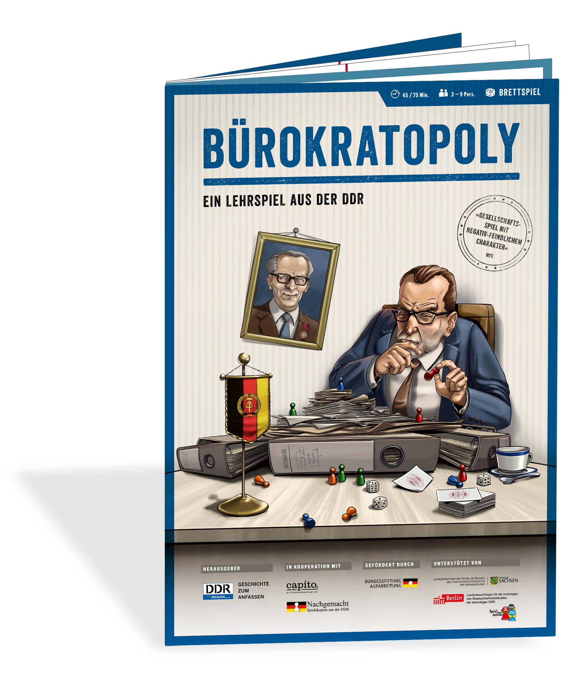 Bürokratopoly - ein Lehrspiel aus der DDR - Spielplan kostenlos downloaden