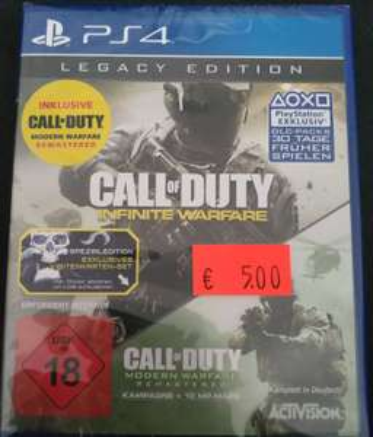 [Lokal Saturn Essen] Doppelpack Call of Duty Infinite Warefare + Modern Warfare inkl. DLCs für die Playstation 4 PS4