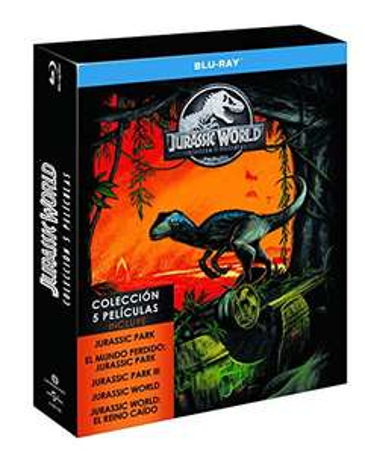 Jurassic Park Collection (Teile 1-5) Blu-ray inkl. Vsk für 23,93 [amazon.es]