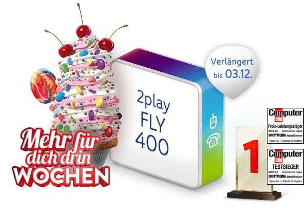 [Shoop Cashback] Unitymedia Kabel 2Play FLY 400 für eff. 24,57€ / Monat