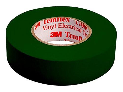 3M TGRU1510 Temflex 1500 Vinyl Elektro-Isolierband, 15 mm x 10 m, 0,15 mm, Grün  [AMAZON Plusprodukt]