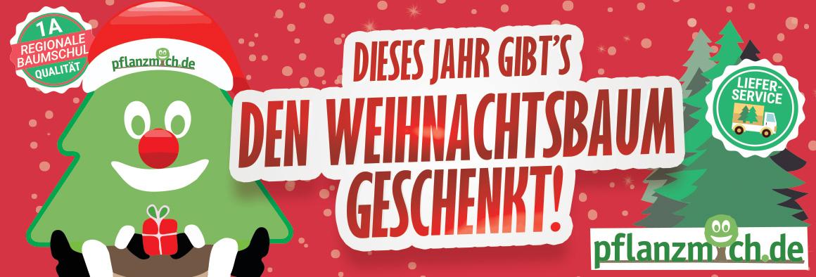 [pflanzmich.de] Weihnachtsbaum kaufen und Kaufpreis 2019 als Gutschein erhalten