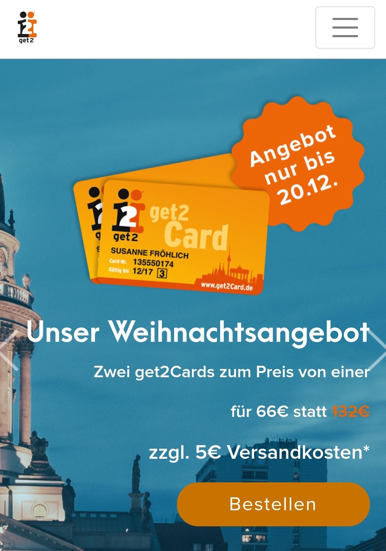 [Berlin] get2card  Weihnachtsangebot 2 für 1