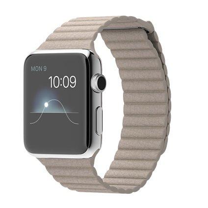 Apple Watch 1. Generation Edelstahlgehäuse, 42mm, Silber @ Comspot