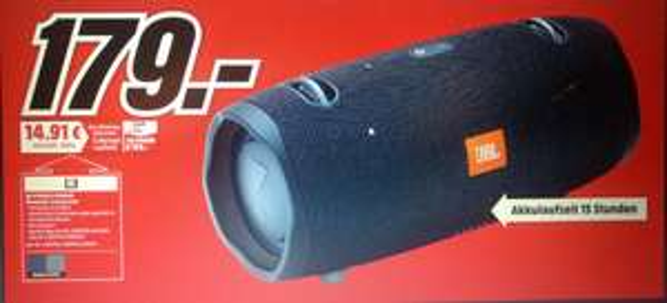 JBL Xtreme 2Midnight Black für 179€ & Sonos Play 1 für 139€ [Lokal Mediamarkt Weilheim]