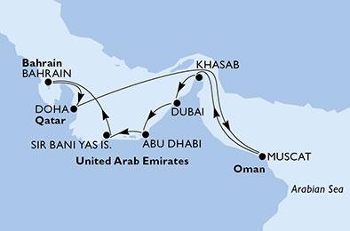 MSC Kreuzfahrt 12 Tage ab Dubai inkl. Flug mit Emirates ab Frankfurt, Düsseldorf oder Hamburg Black Friday Sale