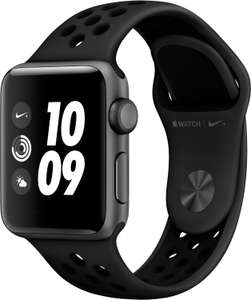 [Euronics] Apple Watch Nike+ Series 3 (GPS) Aluminium 38mm grau mit Sportarmband anthrazit/schwarz (MQKY2ZD/A)