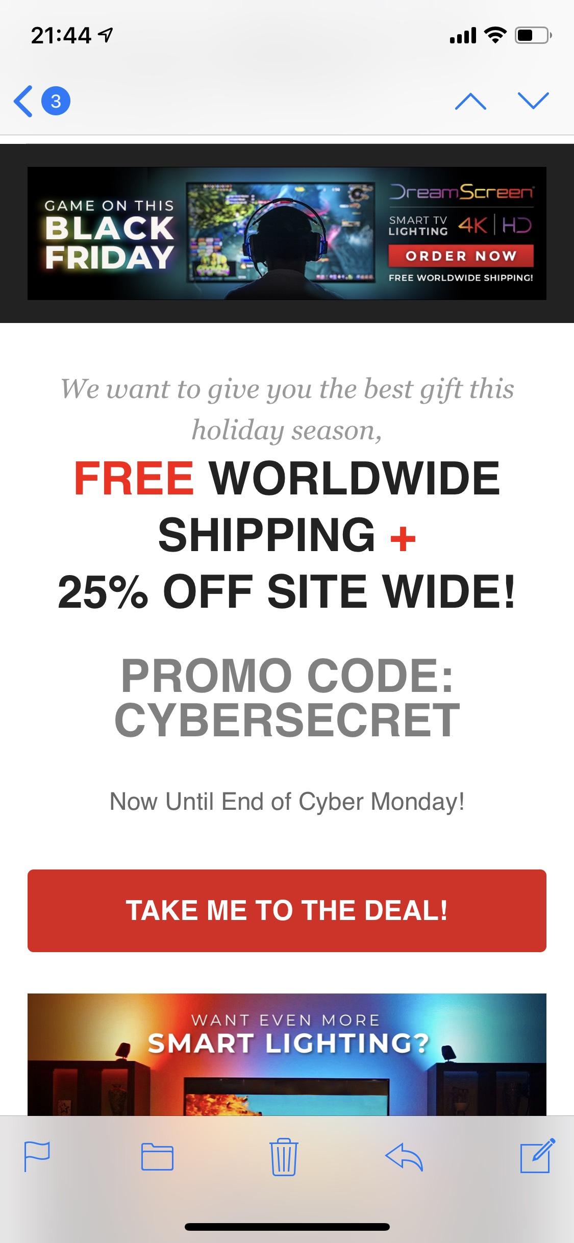 25% bei DreamScreen inklusive weltweitem Versand kostenlos