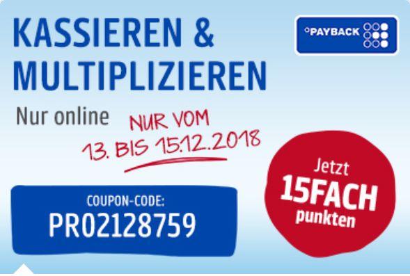 15 Fache Payback Punkte vom 13.12. bis 15.12. [Real Online/ Marktplatz]