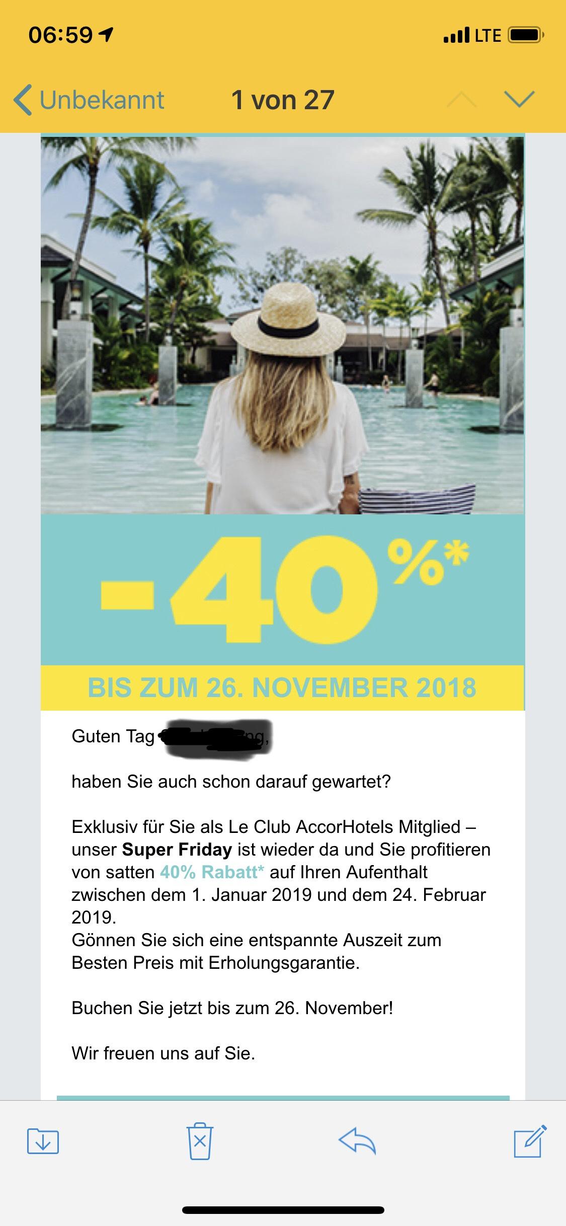 Le Club Accor Hotels 40% auf Ihren Aufenthalt
